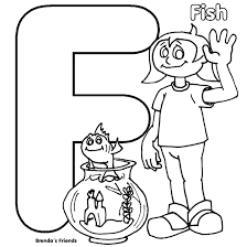 brenda u0027s friend is fish alphabet coloring pages free alphabet