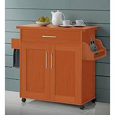 cherry kitchen island cart amazon com kitchen island cart on wheels with wood top rolling