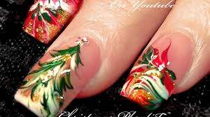 no water needed 3 different christmas drag marble nail art