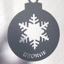 personalised frost acrylic christmas tree decoration by urban