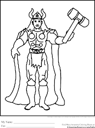 coloring pages avengers thor coloring pages for kids archives best coloring page