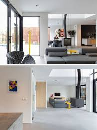 Living Room Design Netherlands The Project Of A House With Large Windows In The Netherlands