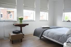 Bay Window Treatments For Bedroom - looking blackout roman shades in bedroom contemporary with bedroom