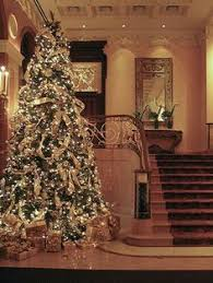 christmas tree in the new york palace hotel by the st patrick u0027s