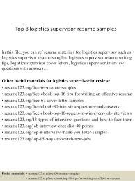 Warehouse Supervisor Resume Samples by Sample Resume Logistics Manager Cafe Worker Sample Resume Company