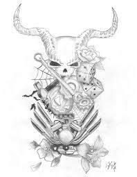 gearhead halloween tattoo design by bluemuseart on deviantart
