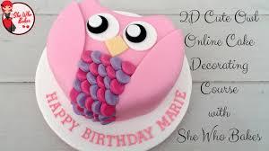 owl cake owl cake she who bakes