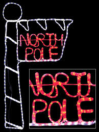 Christmas Rope Light Silhouette by Red U0026 Cool White North Pole Sign Led Rope Light Silhouette 1 6m