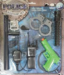 kids police set fireman or cowboy kit lots of accessories boys