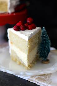 eggnog cake with cheesecake filling the seaside baker