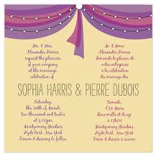 bilingual wedding invitations wedding invitations bilingual tent at minted