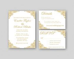 printable wedding invitations wedding invitations gold wedding invitation suite