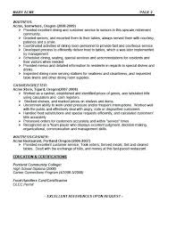 server resume template cocktail waitress resume samples professional cocktail server