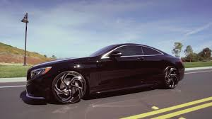mercedes s class wheels 2017 mercedes s coupe on 22 black and chrome lexani wheels