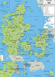 Physical Map Of Europe by Maps Of Denmark Map Library Maps Of The World
