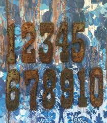 reserved rusty numbers set home decor address identifiers numerals
