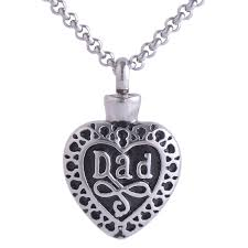 necklace urns for ashes fashion memorial heart pendant necklace stainless steel