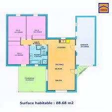 plan maison 90m2 plain pied 3 chambres plan de maison individuelle plain pied