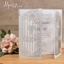 silver gatefold personalised laser cut wedding invitations u2013 paper