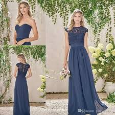 wedding dresses for of honor cheap navy bridesmaid dress two pieces lace