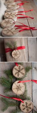 the gift etched snowflake ornaments in birch design