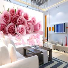 wallpaper luxury pink photo wallpaper romantic painting pink stereoscopic rose flower