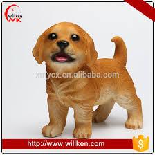 polyresin garden ornaments puppy golden retriever simulation animal