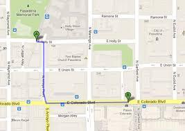 Colorado Google Maps by E Holly St To 280 E Colorado Blvd Pasadena Ca 91101 U2013 Google M