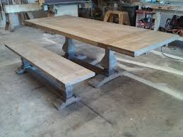 trestle dining table with bench hand crafted custom dining table trestle table by santini custom