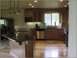 Natural Hickory Kitchen Cabinets Kitchen Hickory Kitchen Cabinets With Dark Countertop Rustic