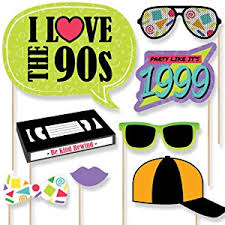 photo prop 90 s throwback 1990 s party photo booth props kit