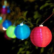 guirlande lumineuse solaire d extérieur 10 boules multicolores