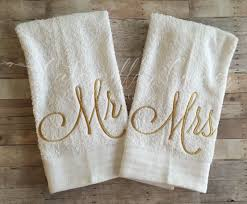 wedding gift towels mr and mrs towel set mr and mrs wedding gift mr and mrs