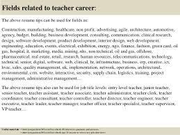 Entry Level Teacher Resume Top 12 Teacher Resume Tips
