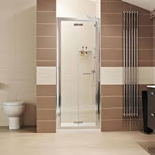 bi fold shower doors and folding shower door enclosures roman showers lumin8 bi fold door shower enclosure