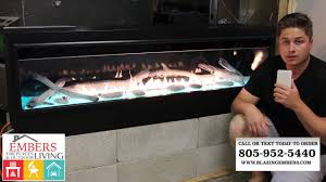 empire boulevard vent free gas fireplace led lights youtube