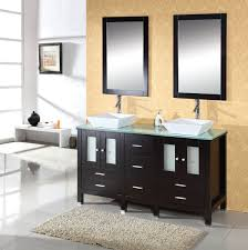 Sale On Bathroom Vanities by Abodo 59 Inch Double Bathroom Vanity Tempered Glass Top
