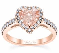 morganite engagement ring gold heart cut morganite engagement ring in gold