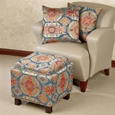 Ottoman Pillows Pecos Southwest Storage Ottoman And Pillows Set