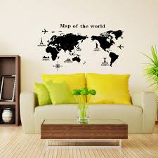 Nur Home Decor Aliexpress Com Buy Large World Map Wall Stickers Original