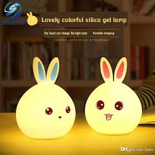 led night light with sensor online cheap cute usb bunny led night light light sensor control