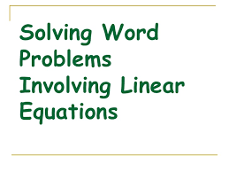 linear equation word problems worksheet with answers u2013 jose