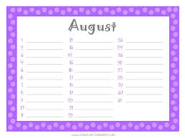 8 best images of printable monthly birthday list templates free
