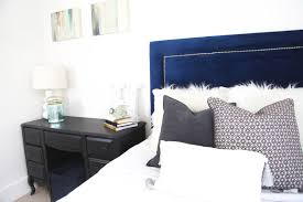 navy blue teen bedroom makeover thestyledhaus