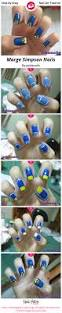 marge simpson nails nail art gallery step by step tutorial photos
