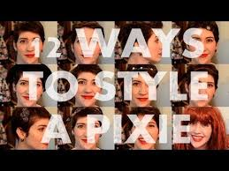 how to style a pixie cut different ways black hair 12 ways to style a pixie youtube