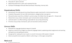 nanny resume template resume template nanny exles sles sle with extraordinary for