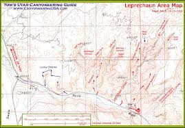 Escalante Utah Map by Leprechaun Canyon Canyoneering In North Wash Utah