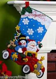 bucilla kits bucilla drive 18 felt christmas kit 86451