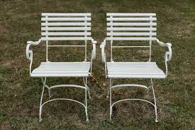 Wrought Iron Patio Furniture Sets by German Wrought Iron Garden Chairs 1880s Set Of 2 For Sale At Pamono